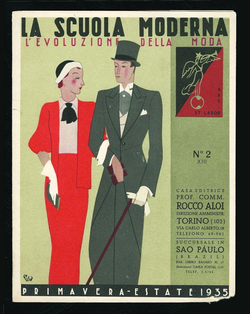 L evoluzione della moda n 2 primavera estate 1935 l for Scuola della moda