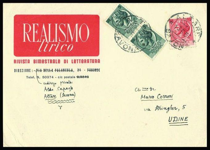 Realismo e poesia: lettere di Aldo Capasso a Mario Cerroni