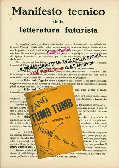 Il primo libro d'artista della storia: Zang Tumb Tuuum di F.T. Marinetti