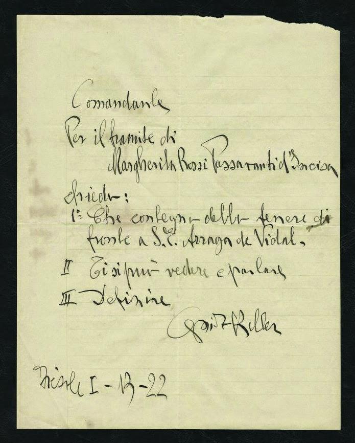Dal museo archeoideologico: una lettera di Guido Keller
