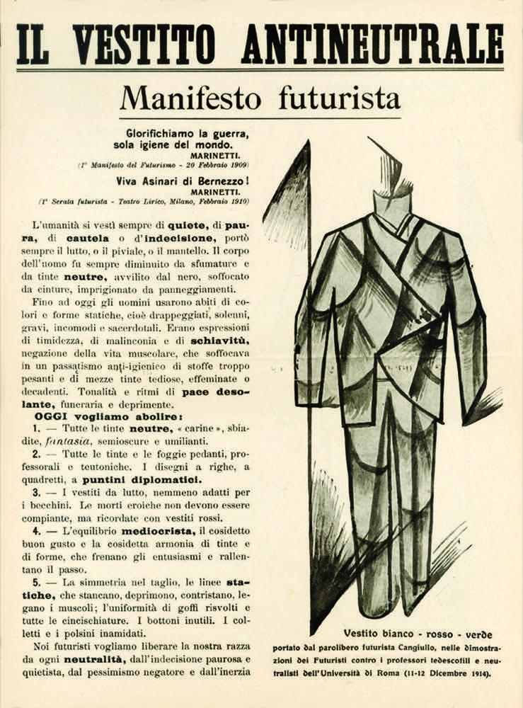 Risultati immagini per vestito antineutrale futurista